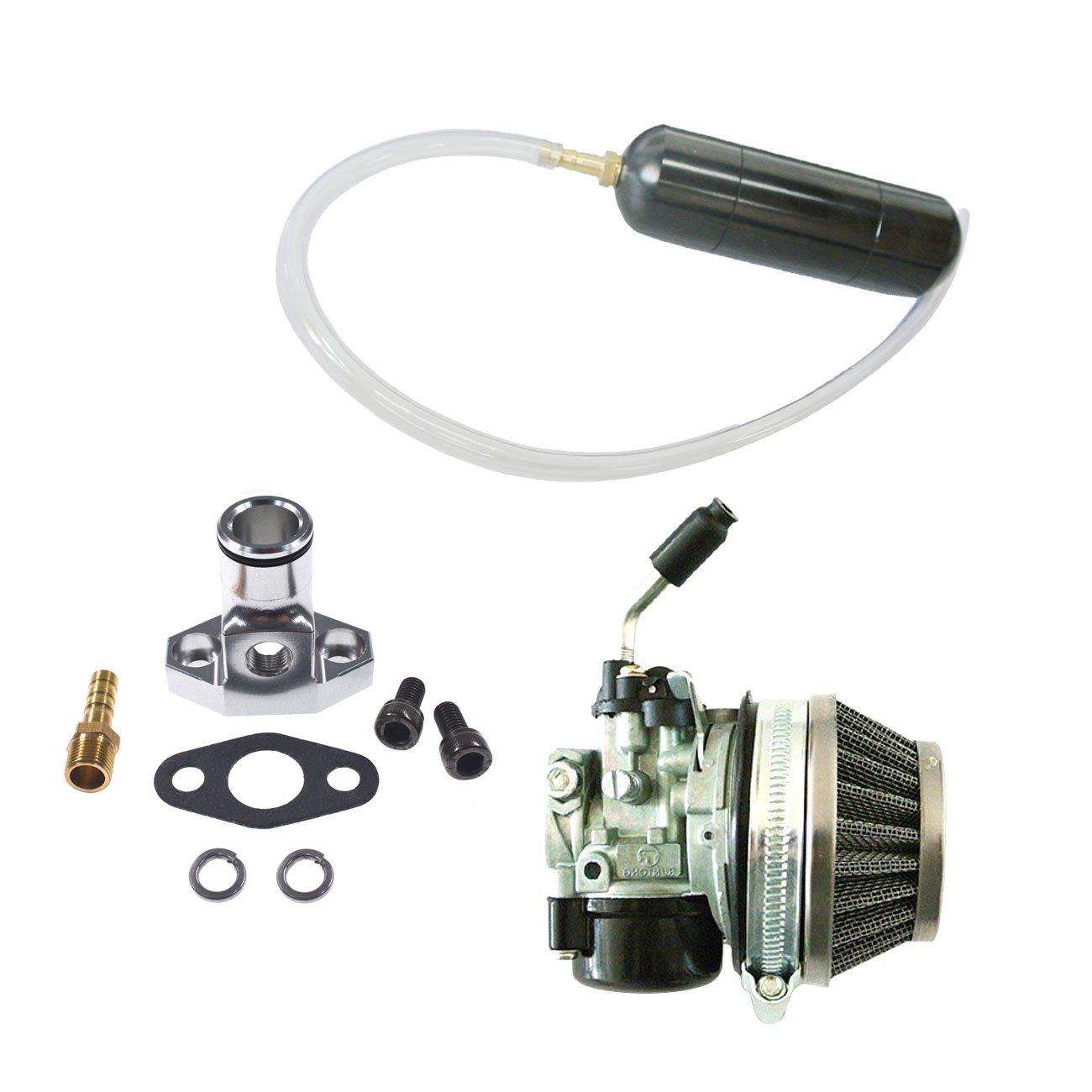JRL Carburetor/&Black Gas Power Boost Bottle For 66cc 80cc Engine Motorized Bicycle