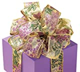 Grapes Sheer Ribbon Swirls Wired Edge 20 yard roll Bow Wreath Gift Wine Craft