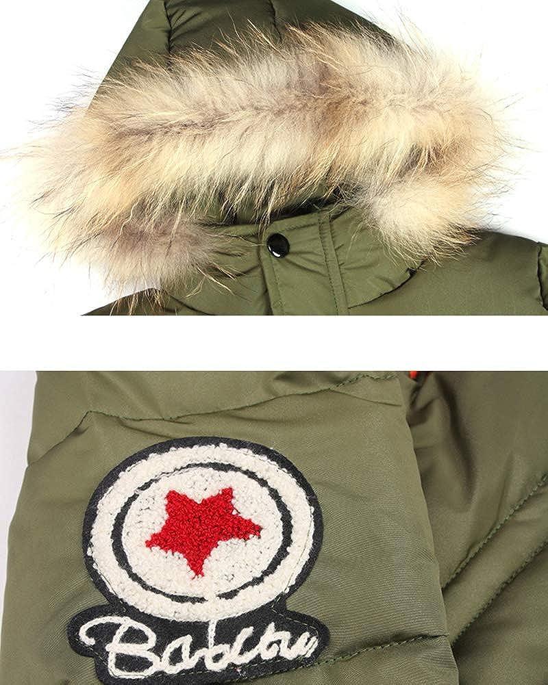 LaoZanA Blouson Manteau Chaud Enfant Gar/çon /À Capuche Fausse Fourrure Veste /À Manches Longues Jacket