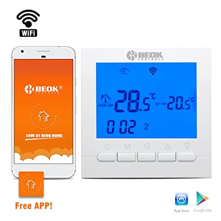 Beok bot 313 wifi gas boiler thermostat programmable lcd room beok bot 313 wifi gas boiler thermostat programmable lcd room temperature controller free app ccuart Choice Image