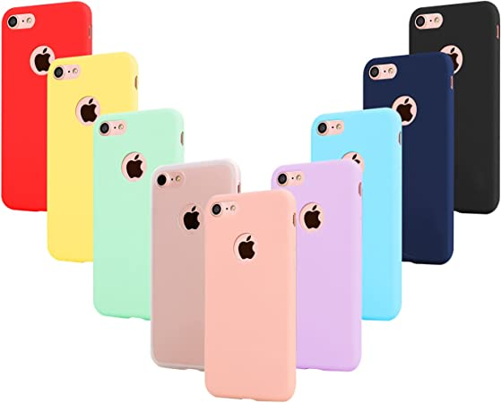 Leathlux 9 Coque Compatible avec iphone 6 et iphone 6S 4.7 Pouces Étui Silicone,Souple TPU Housse Protection Gel Cover Case Rose,Vert,Violet,Bleu ...