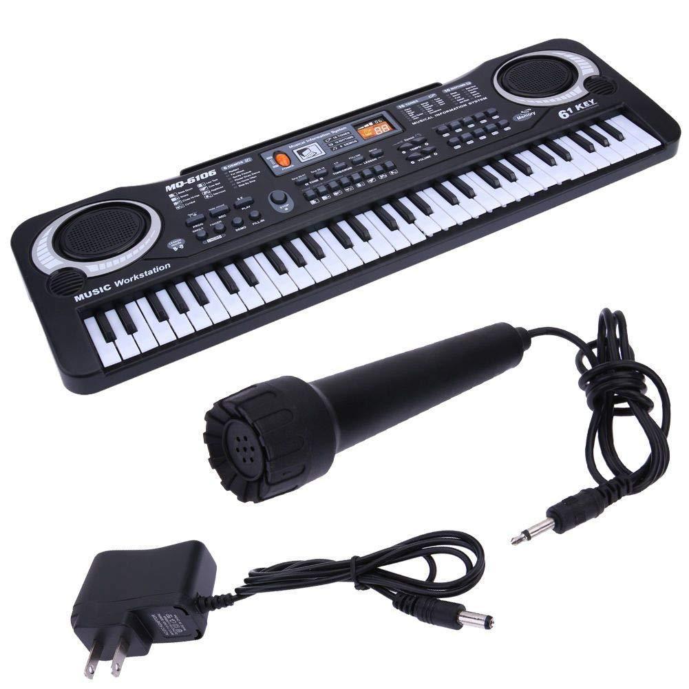 61 Keys Digital Music Electronic Keyboard Key Board Electric Piano Children Gift, US Plug