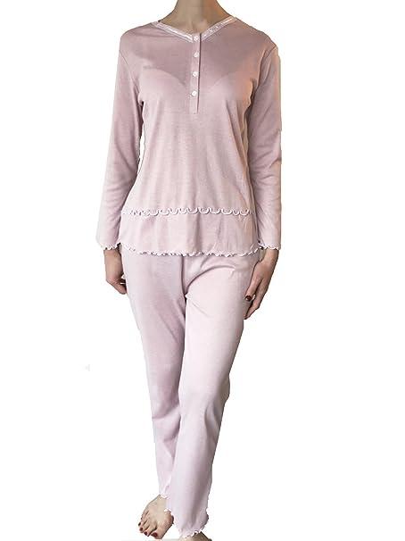 Lady Bella Lingerie - Pijama - para Mujer Rosa (Old Rose) XXL