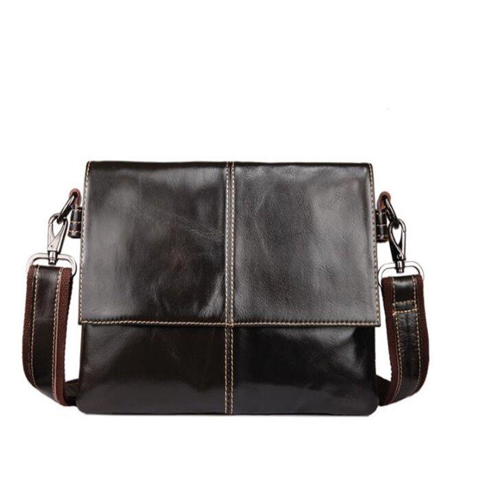 bilang 2018 Men Genuine Leather Trend Messenger Shoulder Cross Body  Business Bag chic e3eed8879fc17
