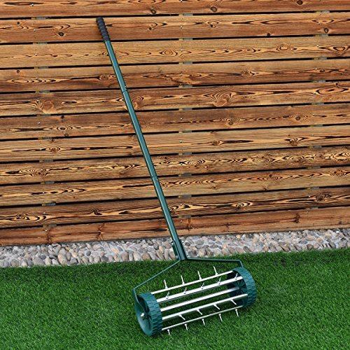 Heavy Duty Rolling Garden Lawn Aerator Roller Home Grass Steel Handle Green New by TimmyHouse (Image #1)