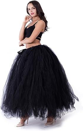 Black tulle skirt ANY COLOR floor length tulle skirt adult tulle skirt