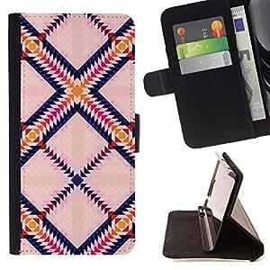 Momo Phone Case / Flip Funda de Cuero Case Cover - Triángulo Plaza colorido Arte - Samsung ALPHA G850