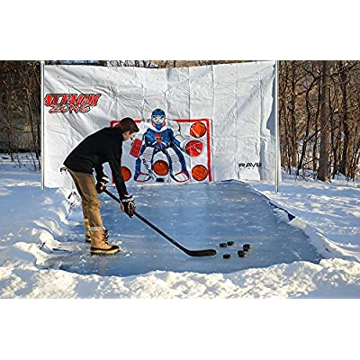 RAVE Sports Attack Zone 16' x 8' Hockey Shooting Tarp: Sports & Outdoors