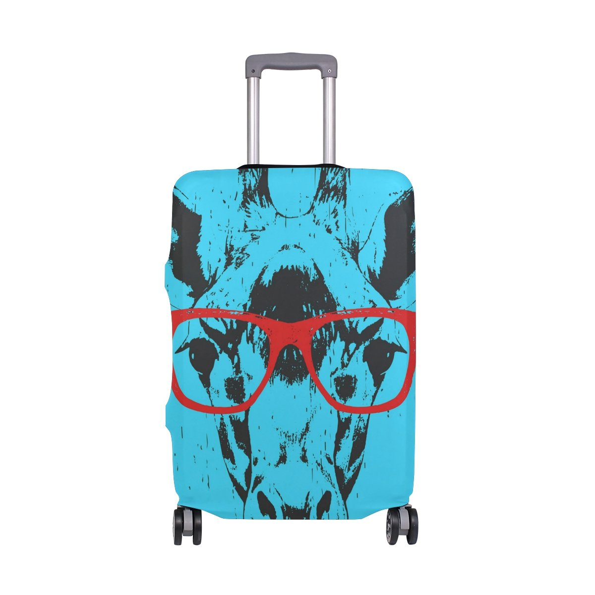 GIOVANIOR Portrait Of Giraffe With Glasses Luggage Cover Suitcase Protector Carry On Covers by GIOVANIOR