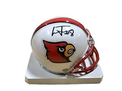 e1c1a5b67 Lamar Jackson Louisville Cardinals Signed Mini Helmet - JSA Certified - Autographed  College Mini Helmets
