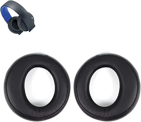 Almohada de repuesto para auriculares de diadema con almohadillas de espuma de memoria para Sony ps3 ps4 Gold Wireless Playstation 3 Playstation 4 CECHYA-0083 estéreo 7.1 Virtual Surround Auriculares (negro): Amazon.es: Electrónica