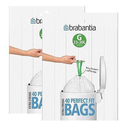 Brabantia dispensador de Bolsas de Basura del Paquete 30 L (g) 40 Unidades,