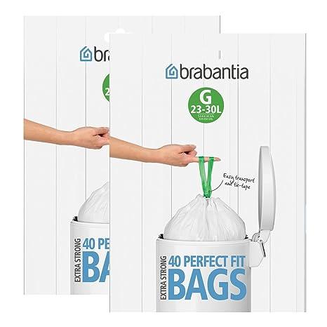 Brabantia dispensador de Bolsas de Basura del Paquete 30 L ...