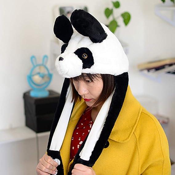 S-TROUBLE Kids Adult Short Plush Cute 3D Cartoon Panda Animal Hat ...