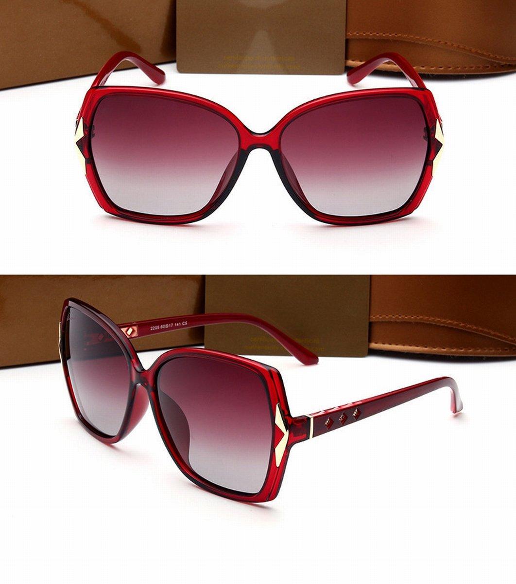 Big Frame Frau Brille Großes Gesicht Polarisierte Farbe Sonnenbrille ...