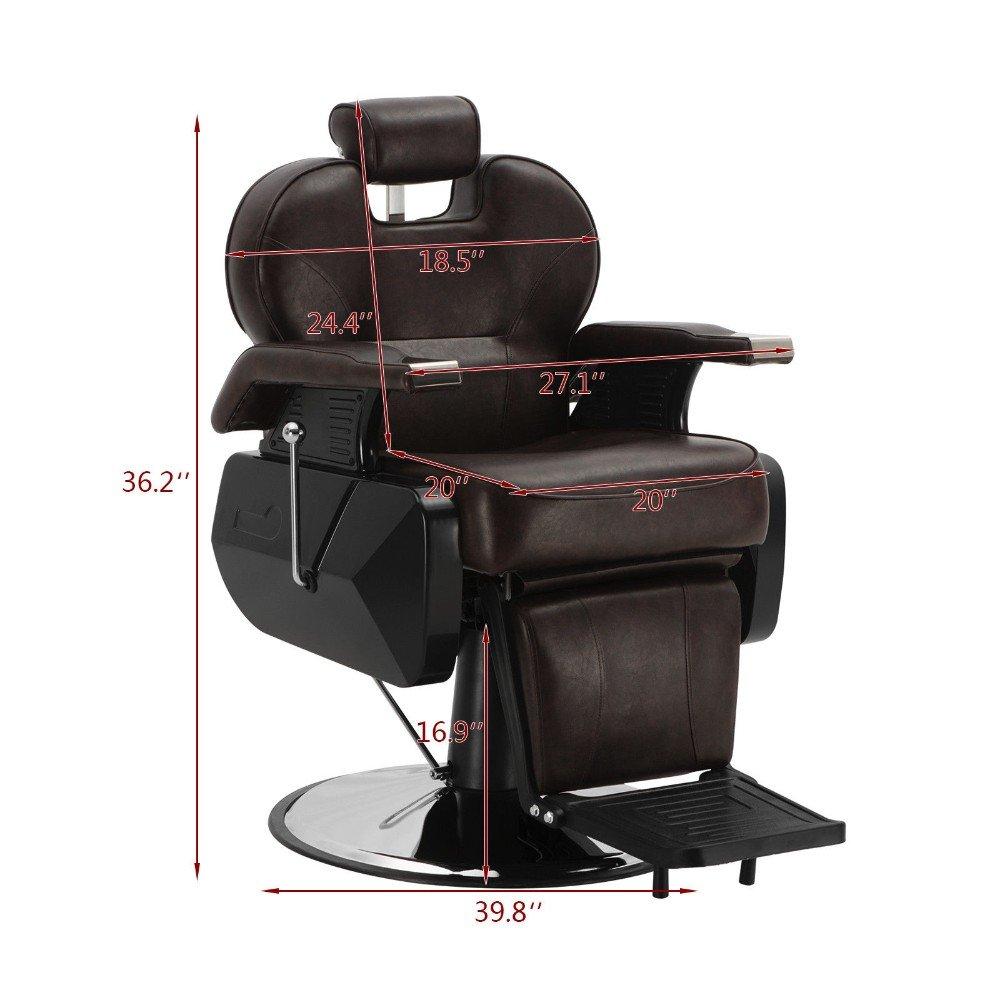 Amazon.com: Sillones de barbería hidráulica reclinables de ...