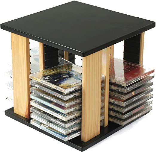 Caja De Almacenamiento De CD DVD Organizador De Escritorio Estante De Almacenamiento Tiene Capacidad For hasta 48 La Caja De Almacenaje De CD (Color : Natural, Size : 28X28X27CM): Amazon.es: Hogar