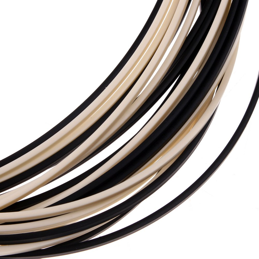 10pcs 5 Feet Black & Ivory ABS Guitar Binding Purfling Strip 16501.52mm Thick
