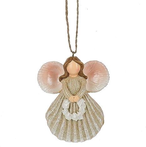 Amazon Com Scallop Shell Angel Ornament Home Kitchen