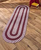 """The Lakeside Collection 22""""x70"""" Braided Runner Burgundy offers"""