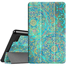 Fintie Slim Case for All-New Amazon Fire 7 Tablet (7th Generation, 2017 Release), Ultra Lightweight Slim Shell Standing Cover with Auto Wake/Sleep, Shades of Blue
