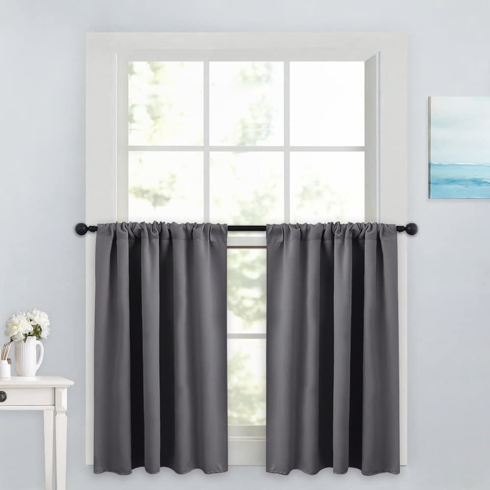 Tailored kitchen curtains