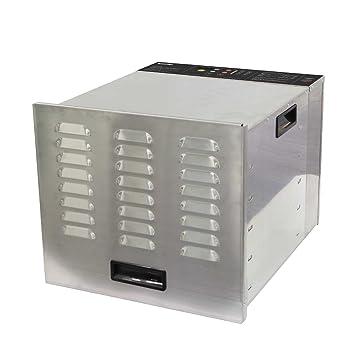 Deshidratador de alimentos profesional BioChef Arizona 10 bandejas - Acero inoxidable, 1000W, temporizador,
