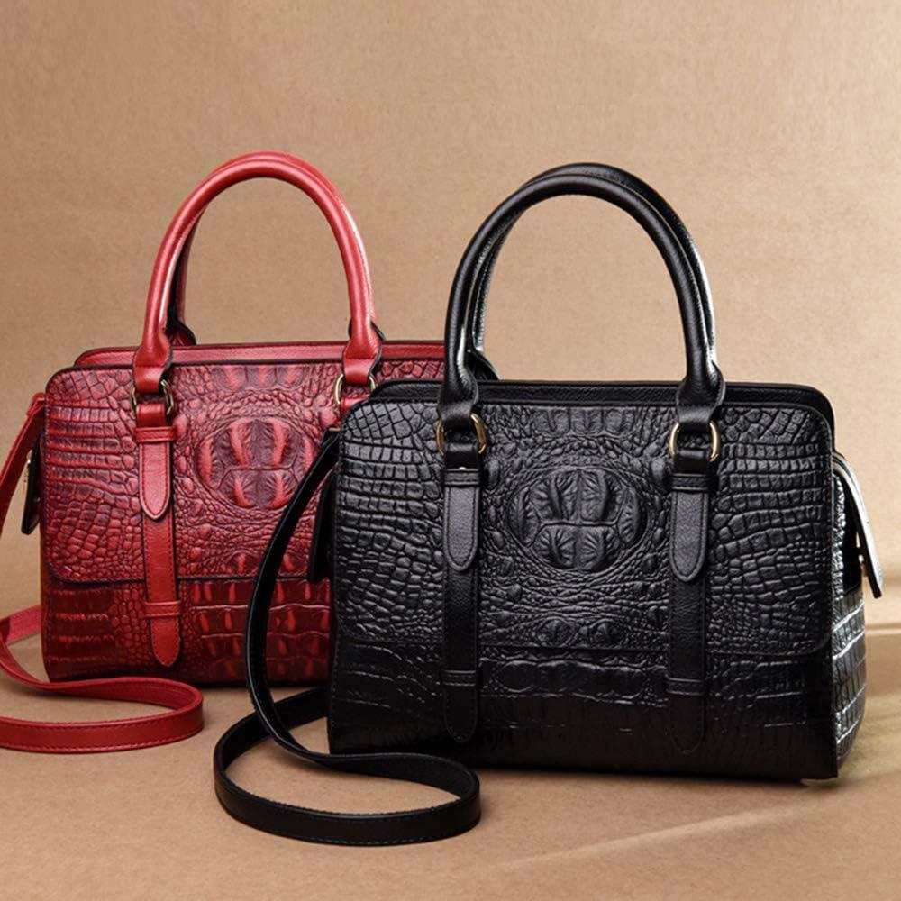 ZZAI Neue Damentaschen - Europäische Und Amerikanische Mode Umhängetaschen - Crocodile Crossbody Bag Handtaschen,Purple Red