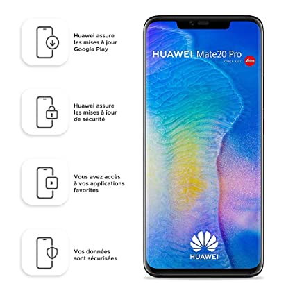 Huawei Mate 20 Pro (GSM Only, No CDMA) Unlocked 6GB RAM 128GB Storage Single Sim LYA-L09 - International Version/No Warranty - Black