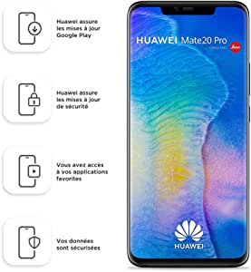 Huawei Mate 20 Pro (GSM Only, No CDMA) Unlocked 6GB RAM 128GB Storage Dual Sim LYA-L29 - International Version/No Warranty - Black