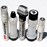 Molotow Empty Refillable Paint or Ink Urban Street Marker set of 5 Professional Art Markers, Dripsticks, and Mops