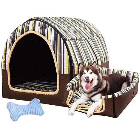 LVAB Cama para Mascotas Perro Grande Casa De Perro Invierno Mantener Caliente Lavable Cuatro Estaciones Perrera