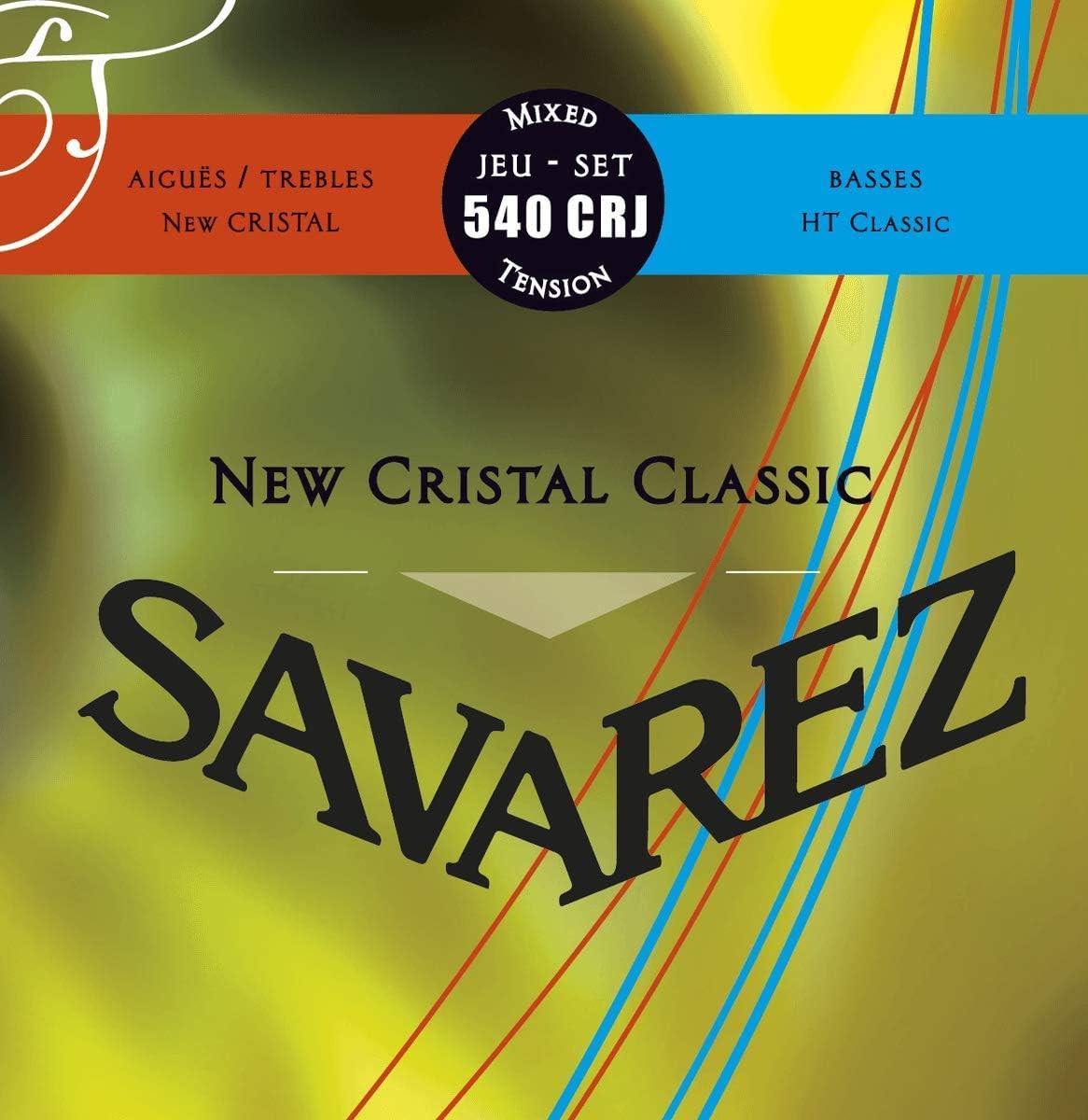 Savarez 656177 - Cuerdas para Guitarra Clásica New Cristal Classic juego 540CRJ Tensión mezclada, rojo, azul