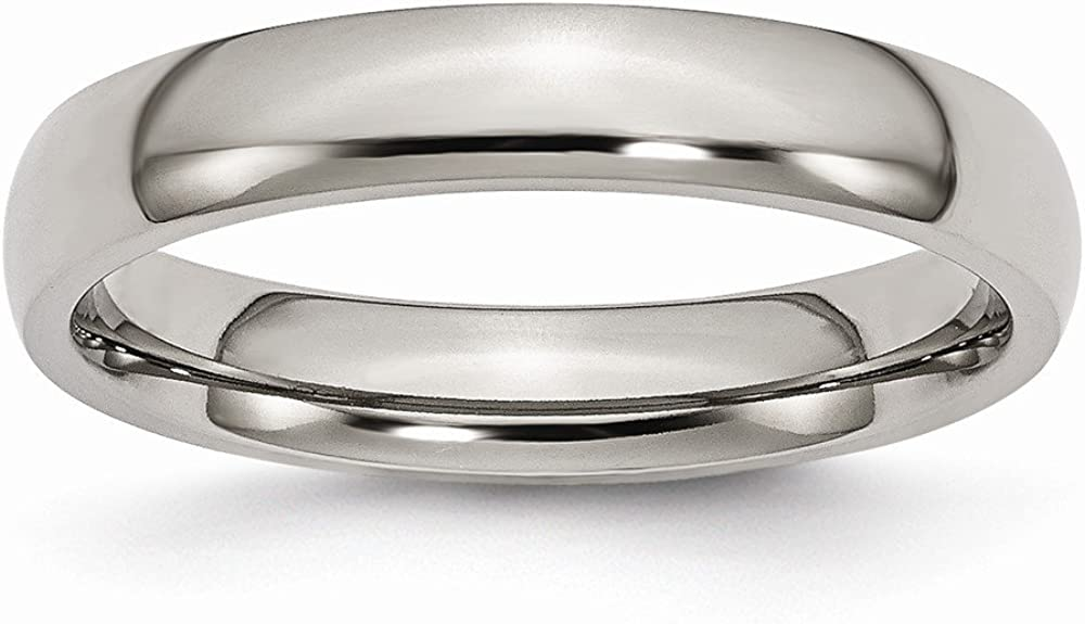 Wedding Bands Classic Bands Domed Bands Titanium 4mm Polished Band Size 15