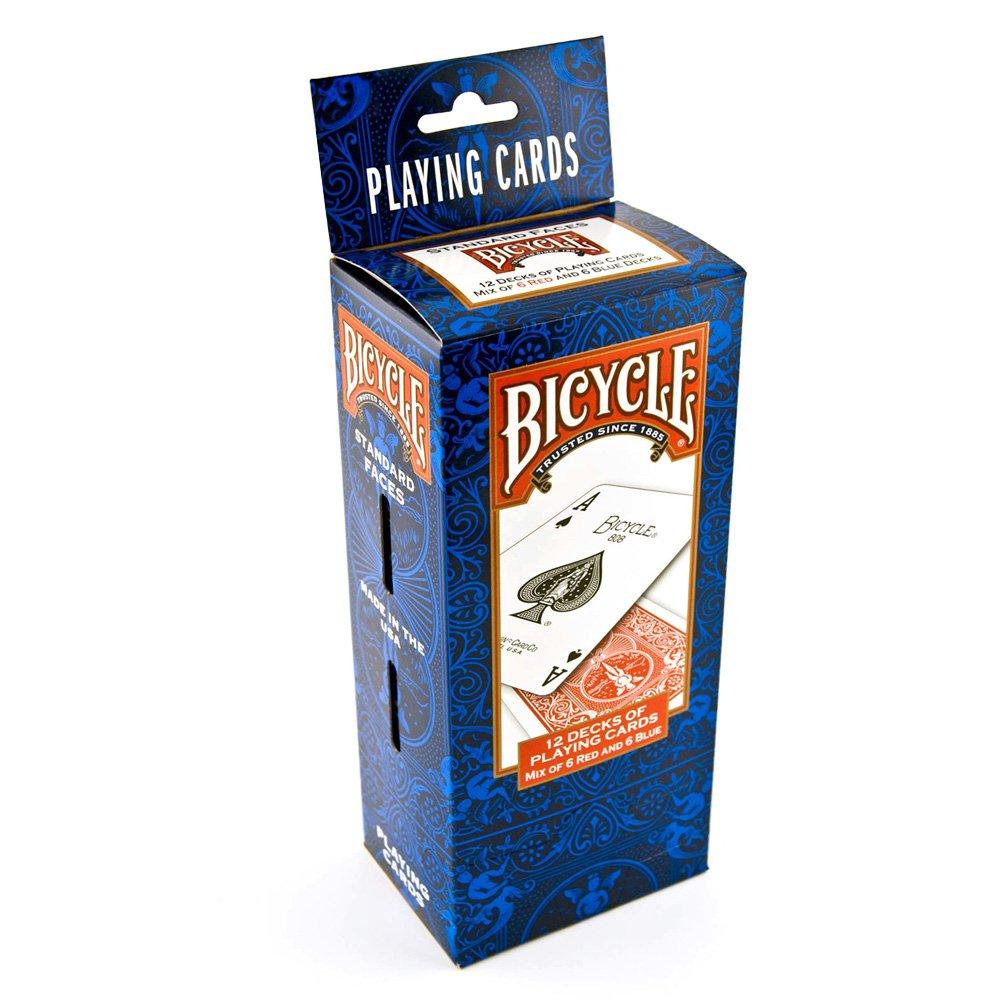 Giocco di carta Bicycle 808 par 12 (6 blu   6 rossi)