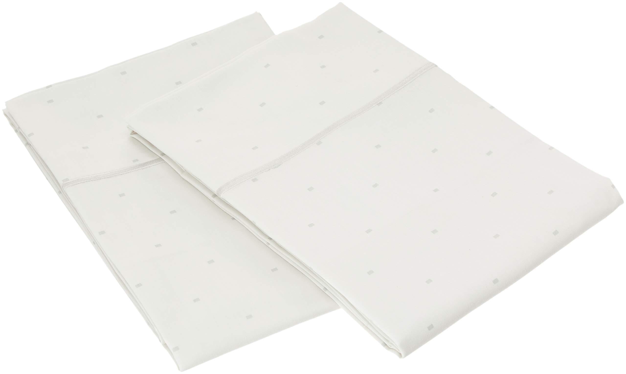 Charisma 310 Thread Count Classic Dot Cotton Sateen King Pillowcase Pair in Dawn Blue
