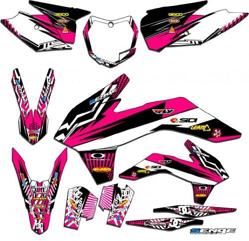 Senge Graphics 2009-2015 KTM SX 50 Mayhem Pink Graphics Kit