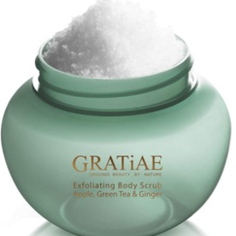 Gratiae Organic Exfoliating Salt Scrub Apple, Green Tea and Ginger 14.1 Fl oz