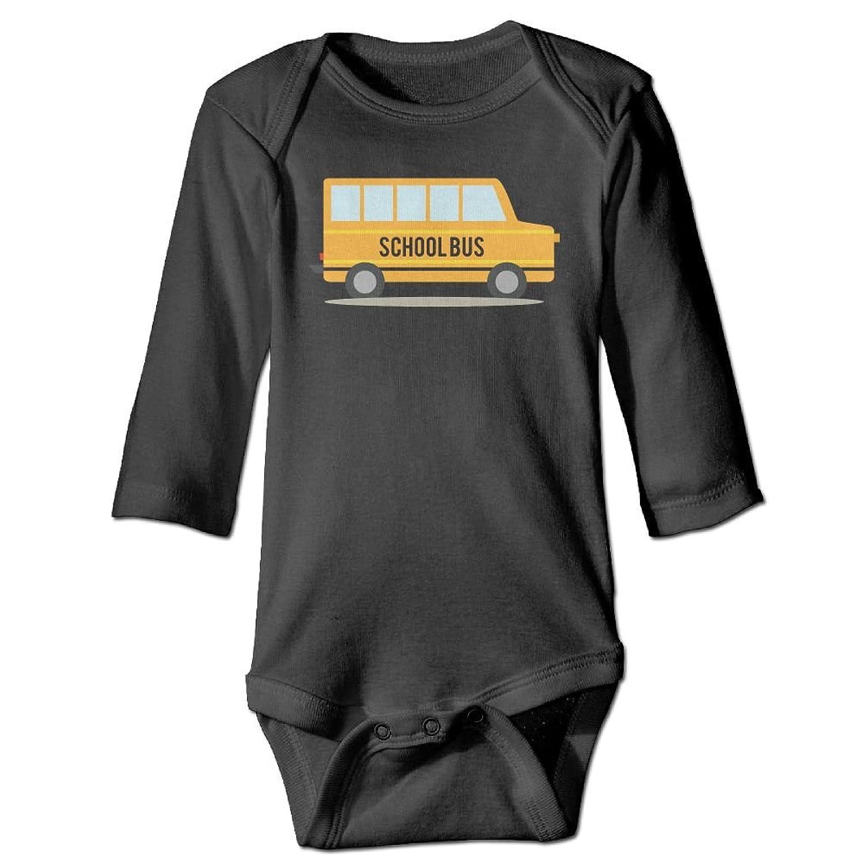 7fed711517758 F2TRST School Bus Printed Unisex Baby Infant Warm Long Sleeves Rompers  Onesies