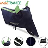 Mototrance Sporty Arc Blue Green Bike Body Cover for Hero Splendor Plus