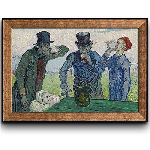 The Drinkers by Vincent Van Gogh Oil Painting Impressionist Artist Framed Art