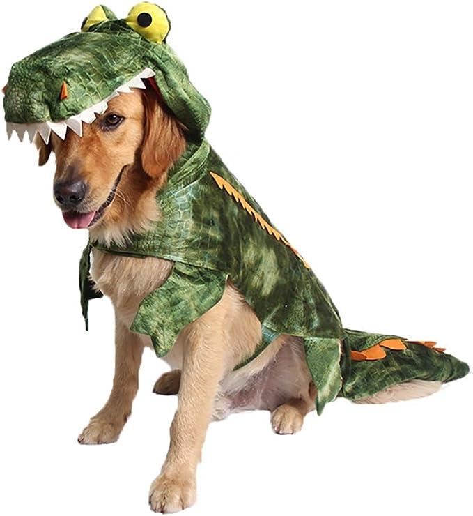 Balacoo Pet Dog Halloween Costume Crocodile Funny Godzilla Dinosaur Dog Cosplay Clothes