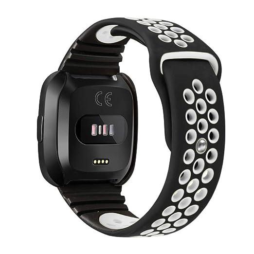 Pulsera Inteligente para Hombre y Mujer Poroso Correa Silicona Strap de Elegante Bandas Repuesto Brazalete de Deportes Wristbands: Amazon.es: Relojes