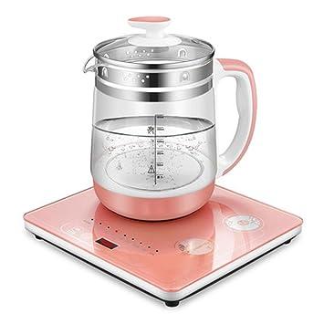 CHUFANG Calentador automático Multifuncional de Acero Inoxidable para el té perfumado y gachas de Avena, Vidrio de borosilicato Alto, fusión automática, ...
