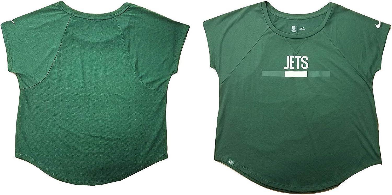 Nike Womens Dri-Fit New York Jets Sideline Legend Tri-Blend T-Shirt Jets Green//White 843238-323