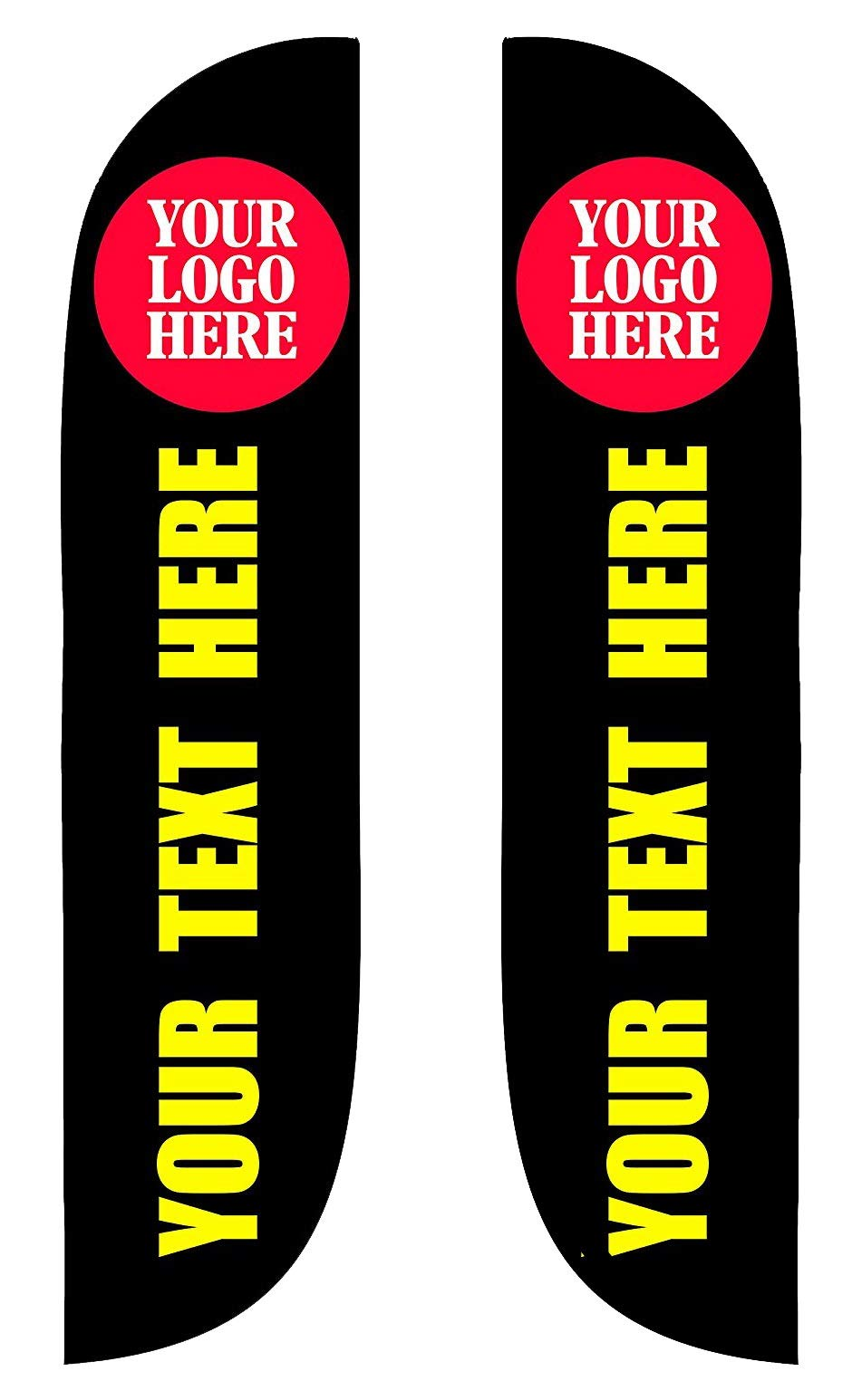 Custom Advertising Flags for Outdoor, Premium Feather Flag Banners with Your Logo and Message, swooper Flag Banner (15, Double Sided)