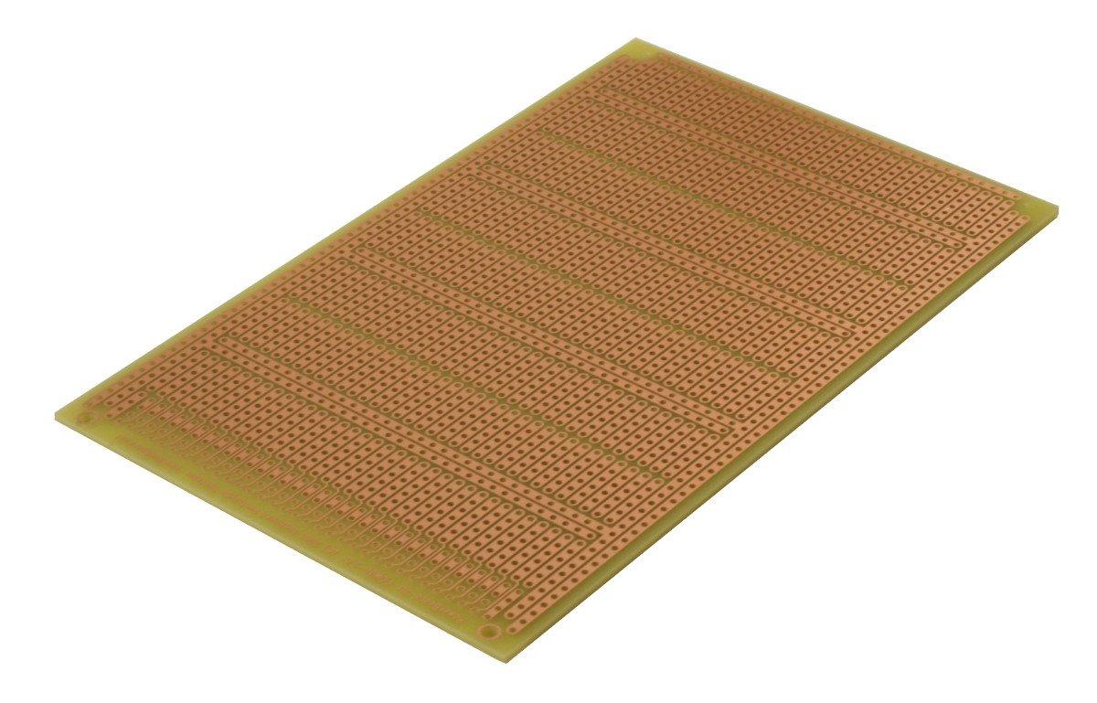 3.94 x 6.30 in 100 x 160 mm POW3U PowerBoard-3U with Power Rails 1 Sided PCB