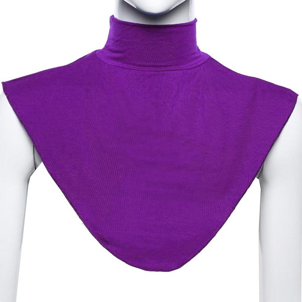 Womens Muslim Soft Modal Fake Collar Hijab Neck Shoulder Cover