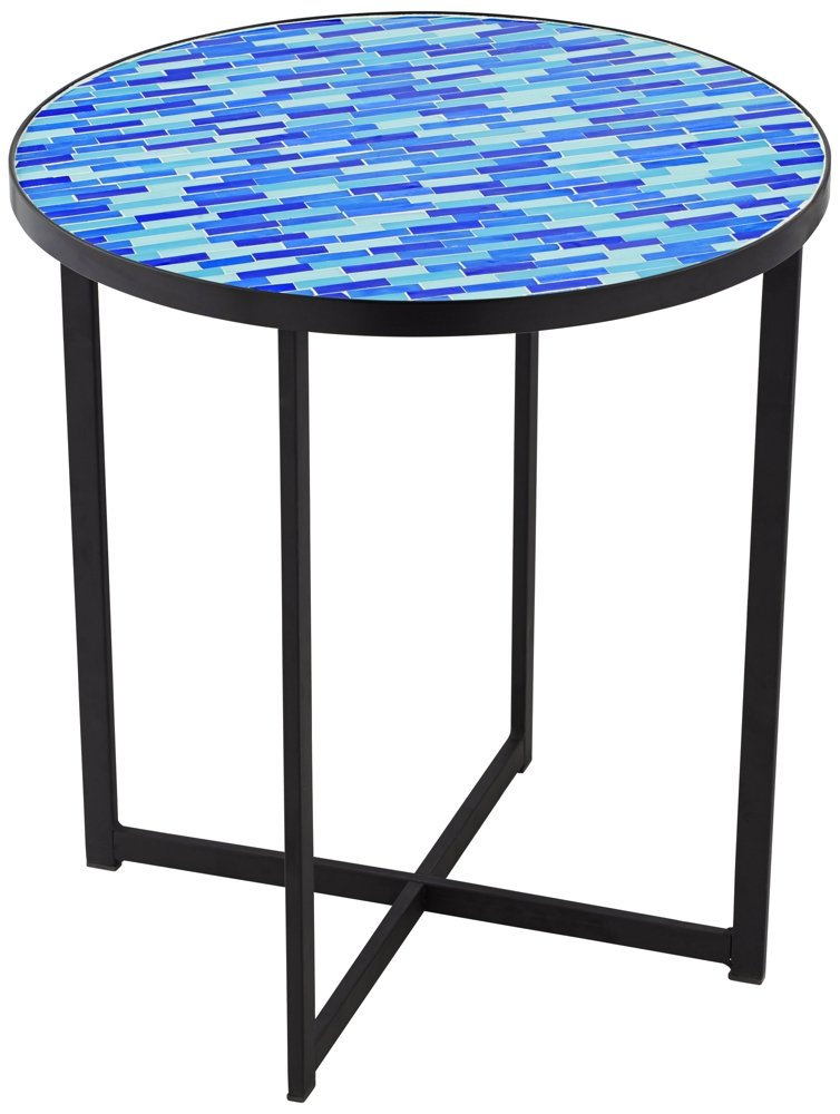 60%off Mariana Blue Mosaic Tile Outdoor Accent Table  Www. Bar Height Table. Desk Chair Wheels. Front Desk Jobs In Fayetteville Nc. Standup Desk. Coffee Tables Under $50. Coffee Table Measurements. Diy Sawhorse Desk. Kidney Shaped Table