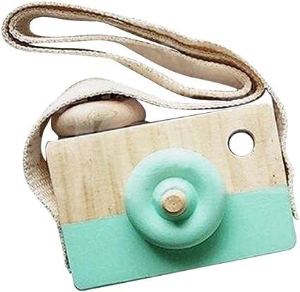 Mini Cute Wooden Camera Crafts Toys Baby Kids Handicraft Children Room Decor